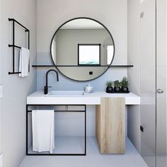 Home Interior Layout Mirror With Shelf Q.Home Interior Layout Mirror With Shelf Q Modern Bathroom Design, Bathroom Interior Design, Decor Interior Design, Interior Decorating, Minimal Bathroom, Decorating Ideas, Decor Ideas, Interior Design Simple, Interior Ideas