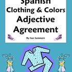 Spanish Clothing and Colors Worksheet - Noun  Adjective Agreement - Students practice agreement in number and gender with this list of 20 comm...