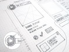 wireframe sketching by Steven Scarborough