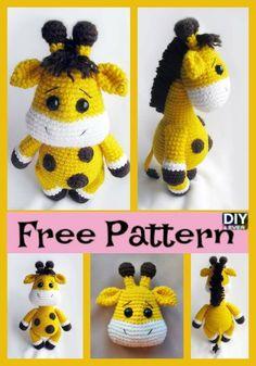 Cute Crochet Baby Giraffe – Free Pattern #crochet #amigurumi #freepattern