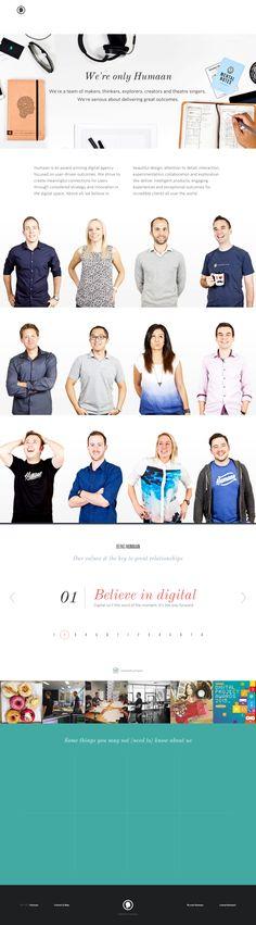 Human - Home page
