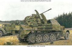 It was produced in single mountings as well as a twin gun mount, the 3.7 cm Flakzwilling 43 with most units used in mobile mountings such as the later Sd.Kfz.7/2, Möbelwagen and Ostwind built on the Panzer IV chassis. Production started in 1944 with about 930 single and 185 twin versions produced before production ended along with hostilities in 1945.