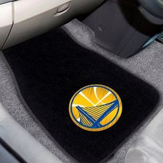 Golden State Warriors 2pc Embroidered Car Mat Set