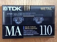 TDK MA110 Металл необъективна металлический сплав 110 минут кассеты