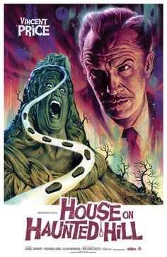 Artist Jason Edmiston (in collabo with Phantom City Creative) created this poster art for the Anniversary of the birth of the horror icon, Vincent Price. Old Movie Posters, Classic Movie Posters, Classic Horror Movies, Movie Poster Art, Poster S, Classic Films, Print Poster, Art Print, Scary Movies