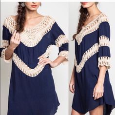 The KANSAS tunic dress - NAVY HP 12/20Had to score this dress. I have the matching top in this style. Can be worn as dress or pair with leggings for a nice feminine touch! So cute with boots! ‼️NO TRADE‼️ Dresses Long Sleeve