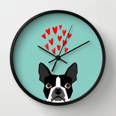 Boston Terrier - Hearts, Cute Funny Dog Cute Valentines Dog, Pet, Cute, Animal, Dog Love,