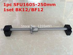 1Set SFU1605 Ballscrew  250mm end machined  1set BK/BF12 Support   CNC rm1605-c7