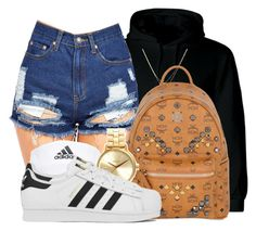 """"""" How could you watch while I flex on you?"""" by mindlesspolyvore ❤ liked on Polyvore featuring adidas, Betsey Johnson, MCM and Nixon"""