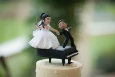 Music Inspired Wedding Cake Topper // Anne Lord Photography // http://www.theknot.com/submit-your-wedding/photo/5a35f1b5-ed5a-4c57-b37c-8b2541705600/A-Dream-Within-a-Dream