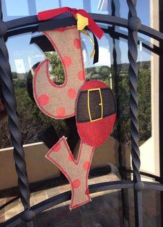 Hang to Dry Applique - Santa JOY Door Hanger, $5.99 (http://www.hangtodryapplique.com/santa-joy-door-hanger/)