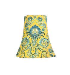 Yellow Lamp Shade, Boho Lamp Shade, Toile Lamp Shade, French Lamp Shade, Eclectic Lamp Shade, FREE SHIPPING - Continental USA