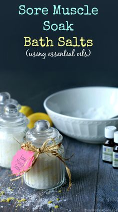 Take a luscious bath to sooth sore muscles with these bath salts using pure essential oils and other items you can find at the dollar store. Makes a great gift for only a few dollars.