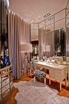 Luxury Dressing Room Design: Luxury Penthouse In Singapore, Designed To A Feminine Spec Luxury Penthouse, Vanity Room, Vanity Area, Glam Room, Cute Dorm Rooms, Dream Closets, Home And Deco, Beauty Room, My New Room