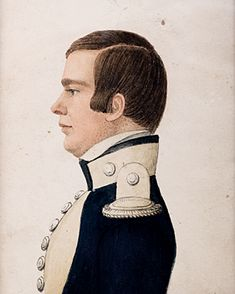 Attributed to Rufus Porter, C1820 Portrait of an Officer.