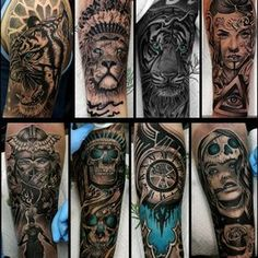 "436 Likes, 17 Comments - Vladimir Drozdov (@drozdovtattoo) on Instagram: ""My set of favorite works…"""