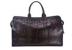 LOTUFF LEATHER American Alligator Duffle Travel Bag. #lotuffleather #bags #leather #