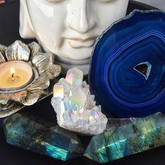 ✨Opal Angel Aura & Labradorite wands✨ available online at www.shopcrystaltribe.com