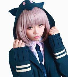 Anangelhair Free Shipping Including Hair Cap Super Dangan Ronpa2 Sayonara Zetsubou Gakuen Nanami Chiaki Cleaner Cos Party Cosplay Wig Hallowmas