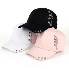 Buy 2017 Adult BTS Casual Solid Adjustable Iron Ring Baseball Caps Snapback Cap Casquette Hats Fitted Casual Gorras Dad Hats at Wish - Shopping Made Fun Girls Fashion Clothes, Teen Fashion Outfits, Girl Fashion, 90s Fashion, Stylish Caps, Jugend Mode Outfits, Mode Kpop, Mein Style, Cute Hats