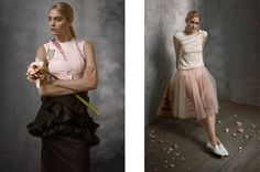 Romantic Spring: Heidi Mount Poses for Hans Neumann in Bazaar Latin America