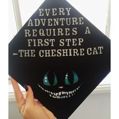 @kimmyandrews Alice in wonderland, Cheshire Cat quote, Tim burton, graduation cap decorations