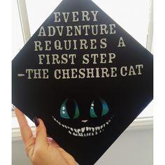 Alice in wonderland, Cheshire Cat quote, Tim burton, graduation cap decorations