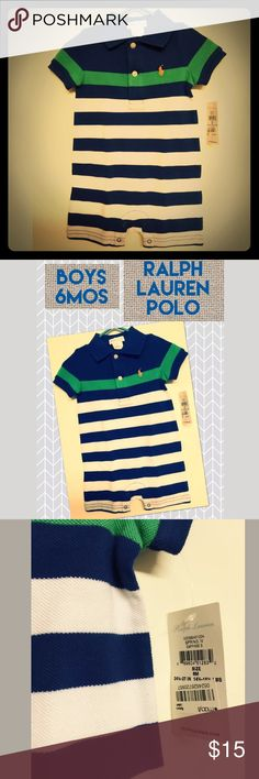 Boys RL POLO romper jumpsuit size 6 mos Excellent buy. Tag still on! Bundle for savings💁🏼 Polo by Ralph Lauren One Pieces Bodysuits