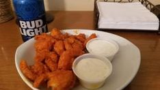 Make and share this Hooters Buffalo Shrimp recipe from Genius Kitchen. Shrimp Salad Recipes, Shrimp Appetizers, Shrimp Dishes, Seafood Recipes, Cooking Recipes, Copycat Recipes, Sausage Recipes, Cooking Ideas, Hooters Buffalo Shrimp Recipe