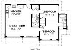House Plans - Northwynd 2 - Linwood Custom Homes Guest House Plans, Log Cabin Floor Plans, 2 Bedroom House Plans, Cabin Plans, Small House Plans, House Floor Plans, Small Modular Homes, Modular Cabins, Tiny Homes