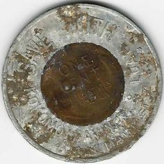 1947 Kokomo Indiana encased cent