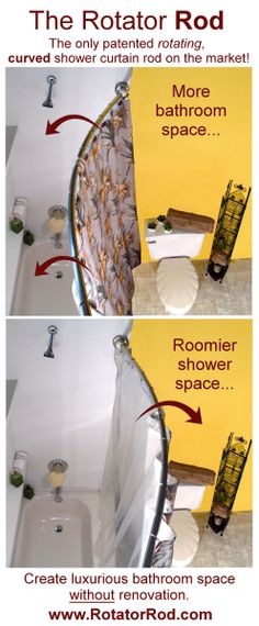 Rotating Shower Rod -- the perfect and easy way to show holiday guests you thoughtfully prepared for their stay!