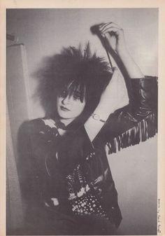 Siouxsie of Siouxsie and The Banshees † Photo: David Arnoff † Zig Zag Magazine, June 1981
