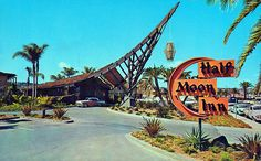 Our retreat location as it looked back in the Half Moon Inn, Shelter Island, San Diego Shelter Island San Diego, Rockabilly, 60 Year Anniversary, Tiki Decor, Vintage Tiki, Vintage Signs, Tiki Lounge, Phoenix Homes, Tiki Party