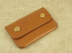 Handcrafted Leather 'Commuter' Wallet with Press by FennerCRAFTS