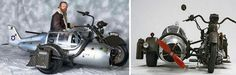 You've probably already seen the Airplane Sidecar, made by the Hungarian biker Henrik Toth (the sidecar is based on Messerschmitt ME109);