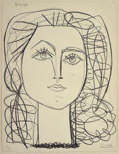 Pablo Picasso, Françoise, June 14 1946, Litografia