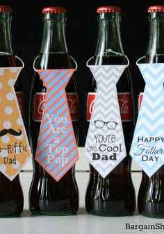 Printable Bottle Tags for Fathers Day