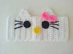 Hello Kitty headband  ear warmer  any size or by nannasKnitneys, $9.99