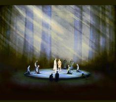 """"""" Parsifal """" 1.Aufzug 1.Bild 1966 Wieland Wagner Bühnenphoto"""