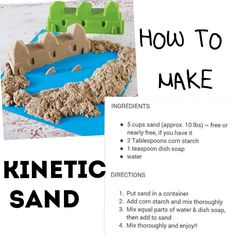 Kinetic Sand recipe.....haven't tried it out yet.