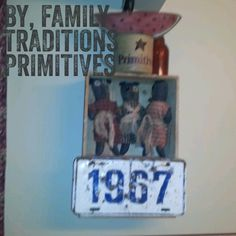 Shelf made from old crate & license plate. Inspired by Funky Junk Interiors. Done by www.facebook.com/familytraditionsprimitives