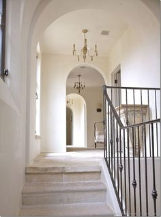 italian wrought iron staircase with stone stairs and foyer - Bing images Interior Stairs, Interior Architecture, Interior And Exterior, Exterior Paint, Exterior Design, Iron Stair Railing, Iron Staircase, Staircase Ideas, Stone Stairs