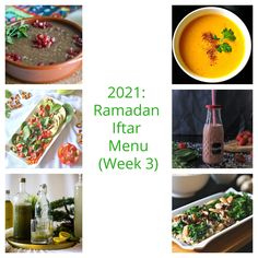 2021: Ramadan Iftar Menu (Week 3) - :: Nutrizonia :: Pomegranate Dessert, Five Course Meal, Zucchini Soup, Healthy Carrot Cakes, Halal Recipes, Lentil Stew, Eastern Cuisine, Different Fruits, Appetizer Salads