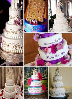 Disney Wedding Cakes: Happily Ever After - I really can't pick a favorite - they're all gorgeous!