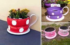 decoração chícaras em pneus reciclagem sustentabilidade moda sem limites