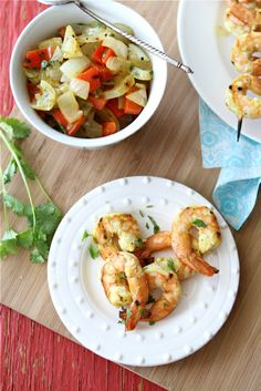 Grilled Curry Shrimp Skewers with Grilled Onions & Red Pepper Recipe by CookinCanuck, via Flickr