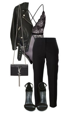 """woah"" by sannatayari ❤ liked on Polyvore featuring H&M, Acne Studios, Shoe Cult and Yves Saint Laurent"