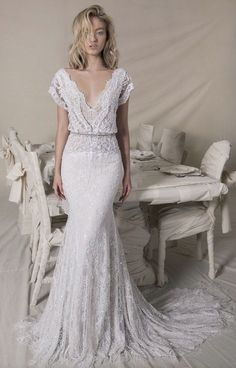 Featured Lace Wedding Dress: Lihi Hod; www.lihihod.com