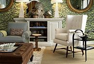 I like the mix of symmetry and asymmetrical items in the room.  By One Kings Lane